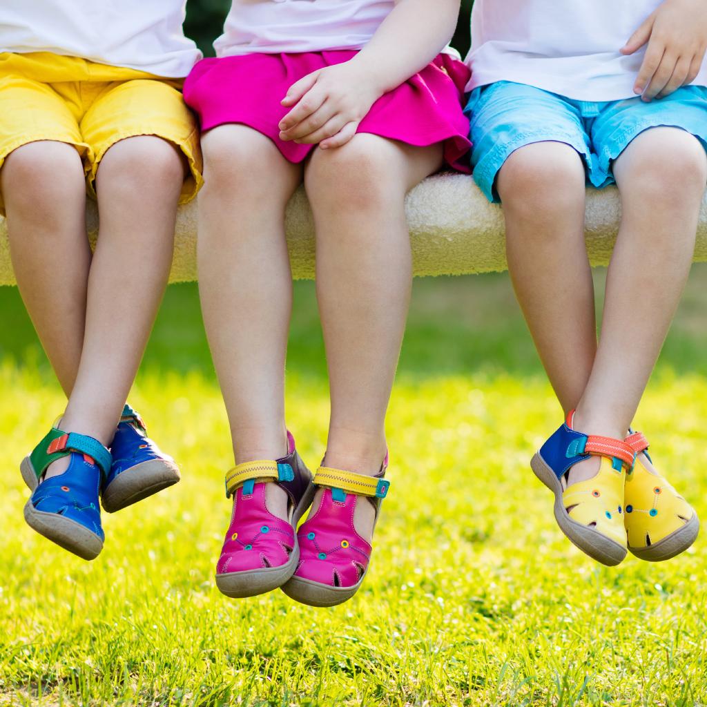 5 opções de calçado para crianças